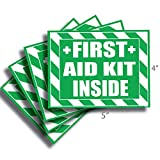 First Aid Kit Inside Sticker, Decal, Self Adhesive First Aid Kit Industrial Sign for Trucks or Equipment