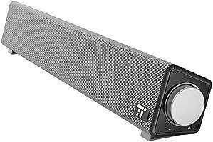 Soundbar Barre de Son TaoTronics Avec Une Large Compatibilité, Haut-Parleur Audio Avec Entrée Microphone et Sortie Casque, Haut-Parleur d'Ordinateur Avec Une Excellente Qualité Sonore pour la Maison et le Bureau