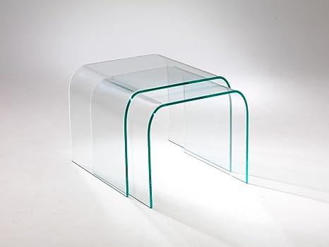 Tavolini Da Salotto In Cristallo : Infabbrica tavolino da salotto in vetro curvato tunnel due a