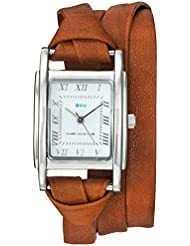 La Mer Collections Womens Quartz Metal and Leather Casual Watch, Color:Brown (Model: LMMILWOOD011)