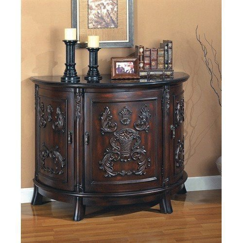 Coaster Accent Cabinet-Cherry (Mirrored Traditional Cabinet)