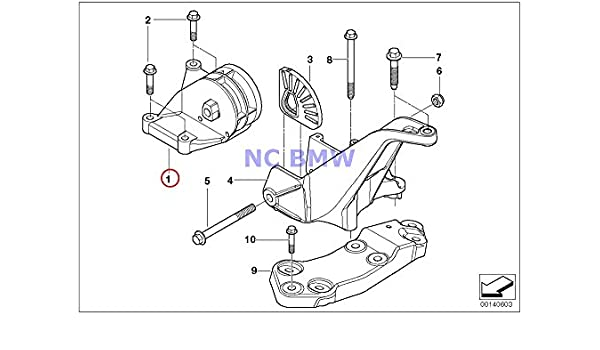 Amazon Com Bmw Mini Transmission Mount With Support Bracket