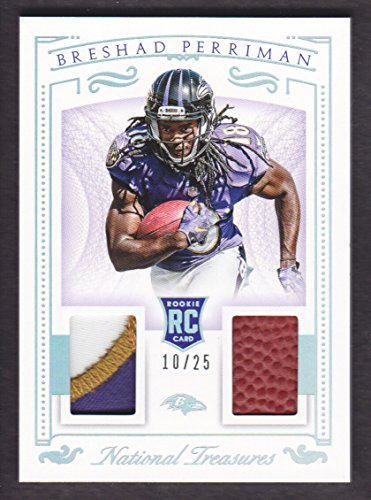 2015 Panini National Treasures Football Rookie Dual Patch Silver #BP Breshad Perriman 10/25