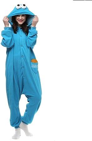 Pijama Adultos Polar Kigurumi Cookie Monster Cosplay Disfraz Animal Onesies Pijamas Halloween Carnaval Mascarada Fiesta Mono