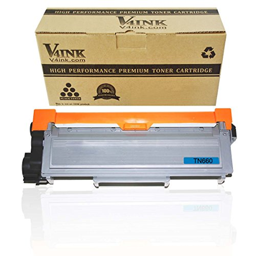 V4INK 1 Pack New Replacement for Brother TN660 Toner Cartridge