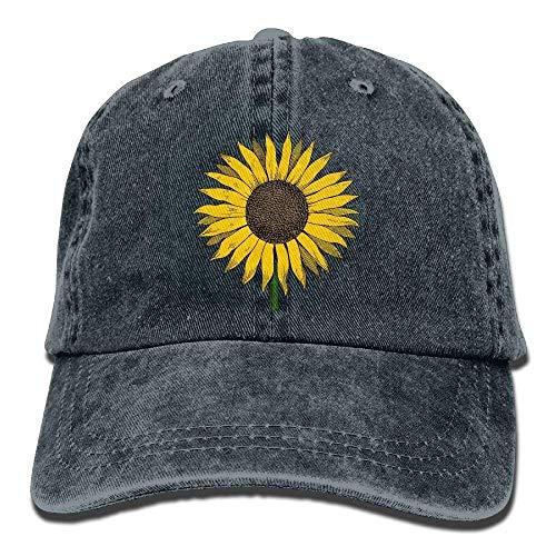 R.Smith Men Women Sunflower Clipart Vintage Jeans Baseball Cap Navy -