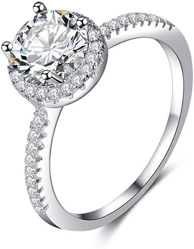 Desirepath Eternal Love Women S Crystal Diamond Engagement Rings