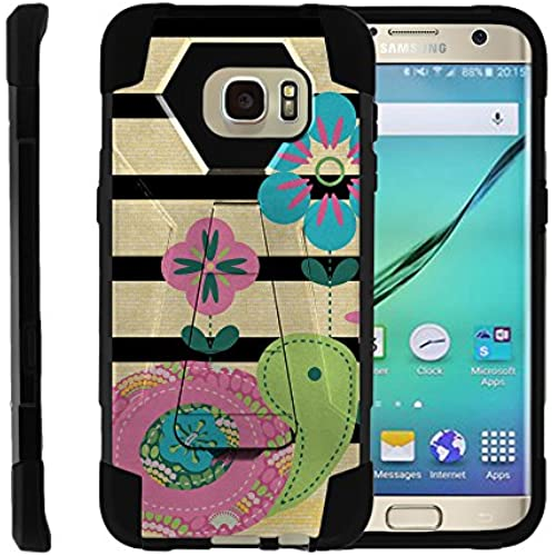 Samsung Galaxy S7 Edge, Full Body Fusion SHOCK Impact Kickstand Case with Exclusive Illustrations by Miniturtle - Little Turtle Sales