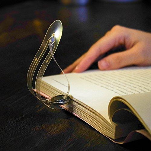 Ge Portable Book Light - Hot Tuscom Creative Mini Portable Bookmark Lights,Modern Minimalism 15.2x3.5x0.1cm for Books Eye Reading Light (Silver)