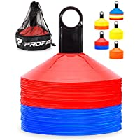 Pro Disc Cones (Set of 50) - Agility Soccer Cones with...