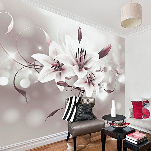 Vlies Fototapete 350x245 cm - 3 Farben zur Auswahl - Top - Tapete - Wandbilder XXL - Wandbild - Bild - Fototapeten - Tapeten - Wandtapete - Blumen Lilien b-C-0040-a-b