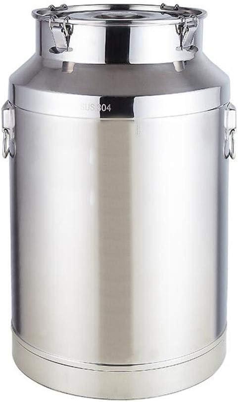 ワイン樽、発酵ケトル、醸造との反応なし、味の変化なし、圧力均等化、304ステンレス鋼、銀 (Color : 25*44cm-20L)