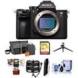 Sony a7R III Mirrorless Digital Camera Body - Bundle Camera Bag, 32GB SDHC U3 Card, Table Top Tripod, Cleaning Kit, Memory Wallet, Card Raeder, Mac Software Package