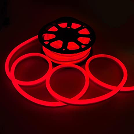 Amazon 50ft 110v flex led neon rope light indoor outdoor 50ft 110v flex led neon rope light indoor outdoor holiday party valentine decoration lighting red aloadofball Images