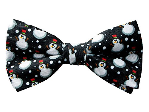Spring Notion Men's Printed Microfiber Christmas Theme Pretied Bow Tie