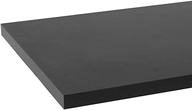 Amazon Com Black Melamine Shelf 10 X 24 Inches Furniture Decor
