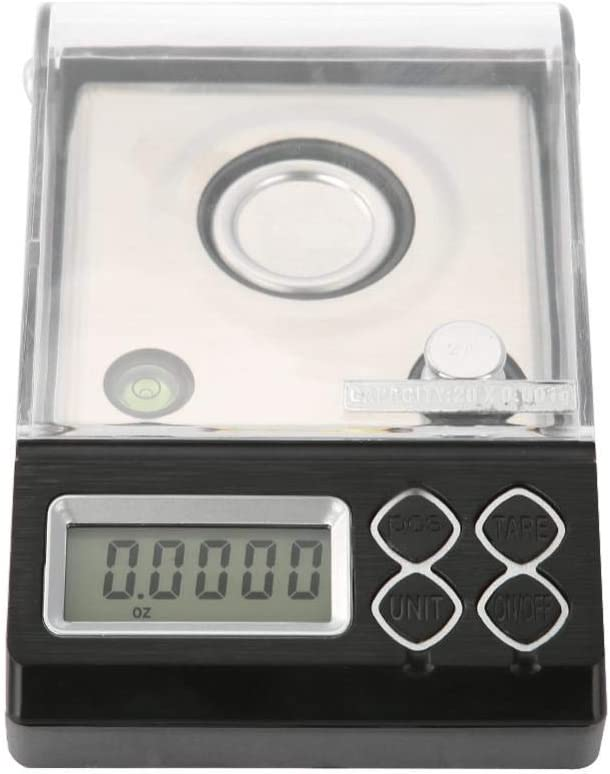 Fdit Scales High Precision Digital Milligram Scale Mini LCD Pocket Laboratory Creative Electronic Weighing with Stainless Steel Frying Pans 30g//0.001g