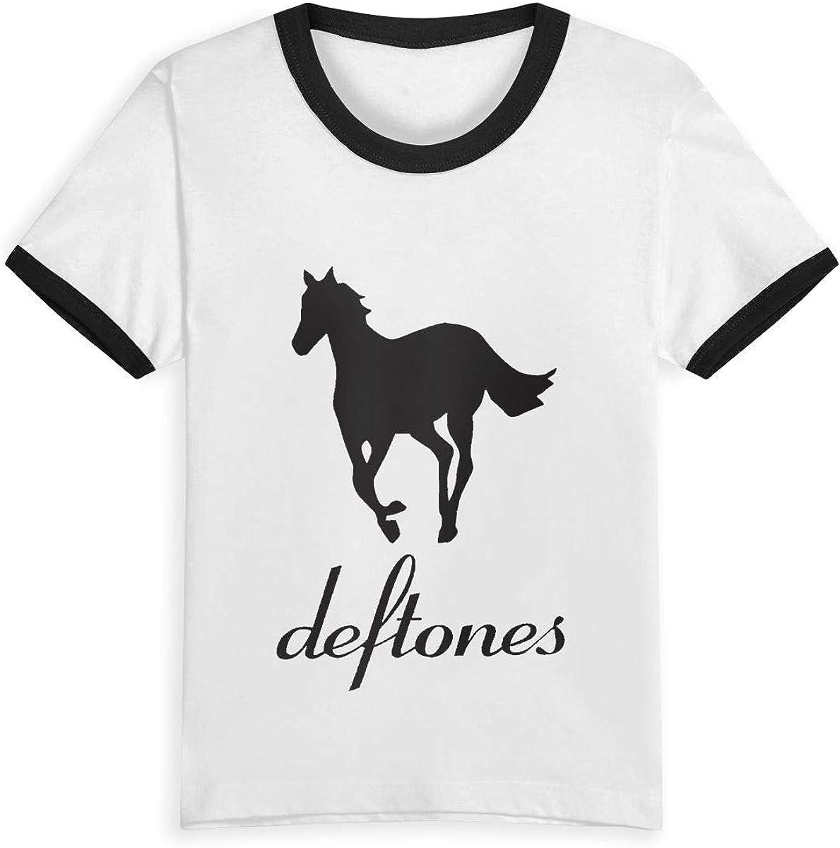 Custom Deftones Unisex Youths Short Sleeve T-Shirt Kids T-Shirt Tops Black