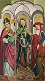 'Circle Of The Master Of Liesborn-Saints Ambrose, Exuperius And Jerome,Exuperius,about 1465-90' Oil Painting, 16x29 Inch / 41x73 Cm ,printed On High Quality Polyster Canvas ,this High Quality Art Decorative Prints On Canvas Is Perfectly Suitalbe For Foyer Decor And Home Artwork And Gifts