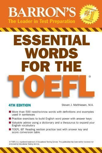 Essential Words for the TOEFL: (Test of English as Foreign ...
