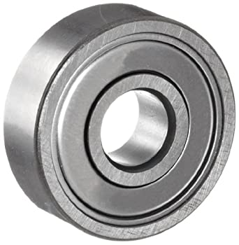 NSK 6204ZZ Deep Groove Ball Bearing, Single Row, Double Shielded, Pressed Steel Cage, Normal Clearance, Metric, 20mm Bore, 47mm OD, 14mm Width, 15000rpm Maximum Rotational Speed, 1484lbf Static Load Capacity, 2878lbf Dynamic Load Capacity