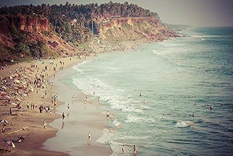 Varkala Cliffs. Landscape Photo of South India. Photographic Print. Beach Photography, wall art (Kerala South India)