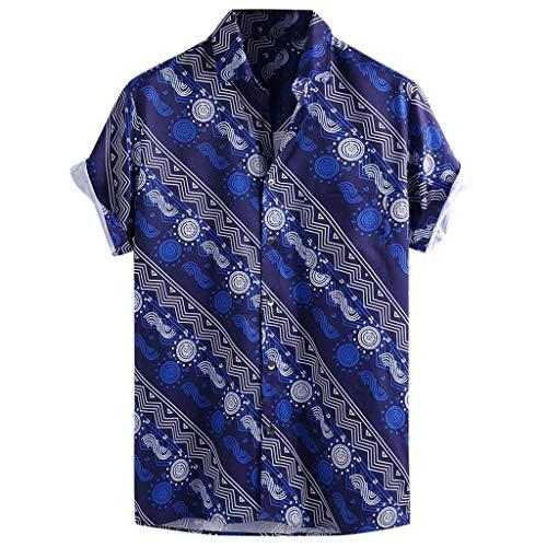 Men's Relaxed-Fit Silk/Linen Tropical Leaves Jacquard Shirt Hawaiian Flower Print Casual Button Down Short Sleeve Shirt - Jacquard Pet Carrier
