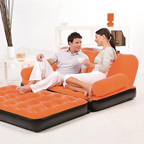 Bestway Multi-Max Inflatable Couch with Air Pump, Orange by Bestway (Image #3)