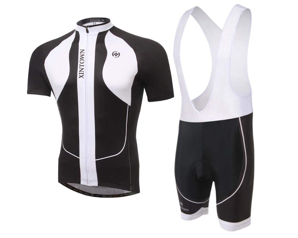 DUBAOBAO XINTOWN Herren Jersey Jumper Kurzarm Set Bike Wear Sommer Feuchtigkeit Sweatsuit