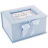 DKDS Collection Baby Erinnerungsbox 'Prinz', Geschenk zur Geburt oder Taufe, hellblau