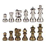 marble chess pieces Odysseus Metal Weighted Chess Pieces with Extra Queens - Pieces Only – No Board – 2.5 Inch King