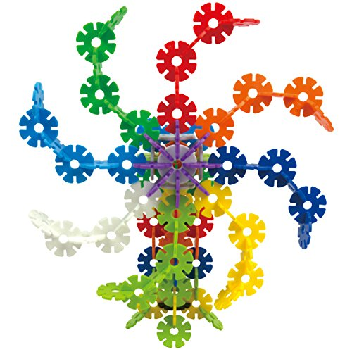 Qualors Gear Snowflakes (Size:M) 500 Pieces Building Set with Idea Sheet (50+ Creations) | Interlocking Toys for Boys and Girls to Promote Fine Motor Skills Development | Carefully Selected Material