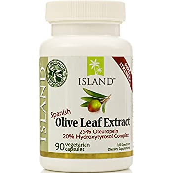 Real European Olive Leaf Extract, 25% Oleuropein - Super-Strength, 500 mg, 90 capsules, plus Hydroxytyrosol Complex. Professional-Strength by Island Nutrition®