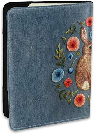Bunte Garland Rabbit Passhüter Abdeckung RFID Blocking Leder ID Card Case