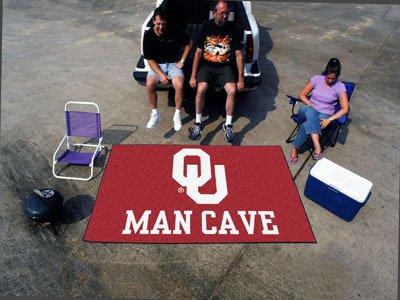 Oklahoma Sooners NCAA Man Cave Ulti-Mat'' Floor Mat (60in x 96in)'' - FAN-14687 by Fanmats