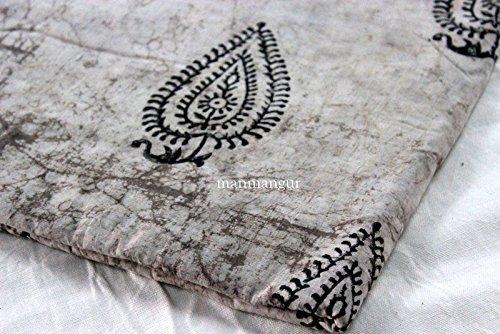 10Yard BATIK FABRIC Hand Block Print Fabric Dabu cotton Indigo Dress Fabric - Dress Fabric Yard 10