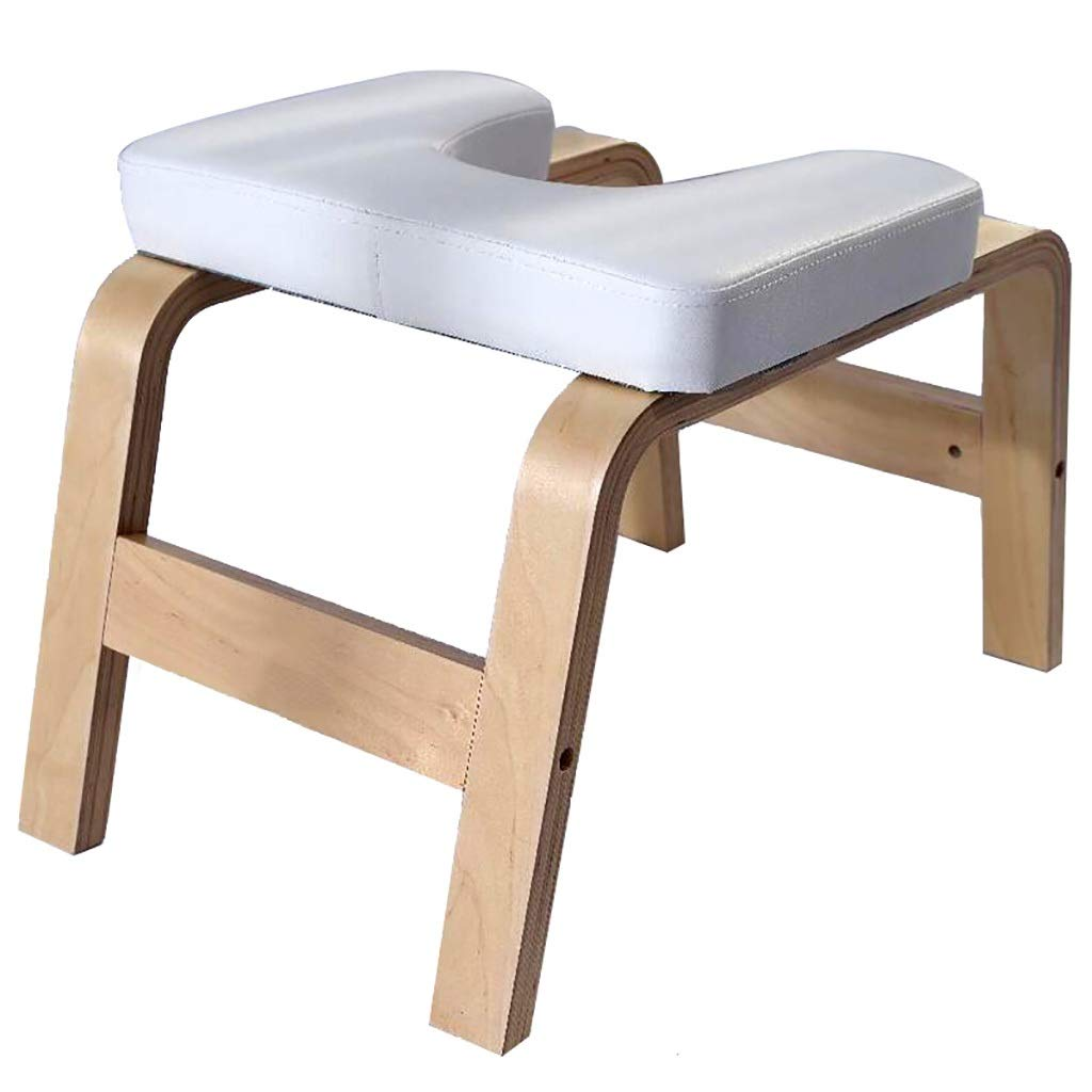 Amazon.com : Yoga Chair Fitness White Oak Inversion Bench ...