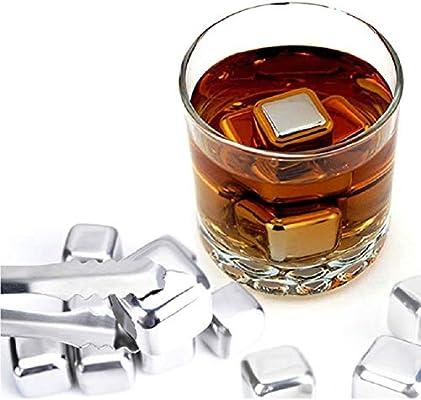 Amazon.com: Cubitos de hielo reutilizables de acero ...