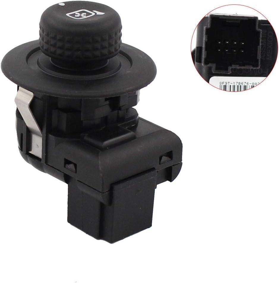 OEM NEW Side View Power Mirror Control Switch Knob Black Ford 8F9Z-17B676-A