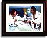 Framed Muhammad Ali & Elvis Presley Autograph Replica Print