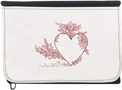 محفظة  بتصميم رومانسي، قماش جينز