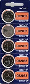 Sony CR2032 3V Lithium 2032 Coin Battery, 5 Pack