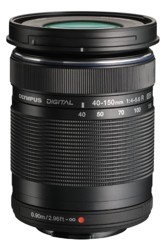 Olympus M.Zuiko Digital ED 40-150mm F4.0-5.6 R Zoom Lens, for Micro Four Thirds Cameras (Black) Autofocus Zoom Lens Digital Camera