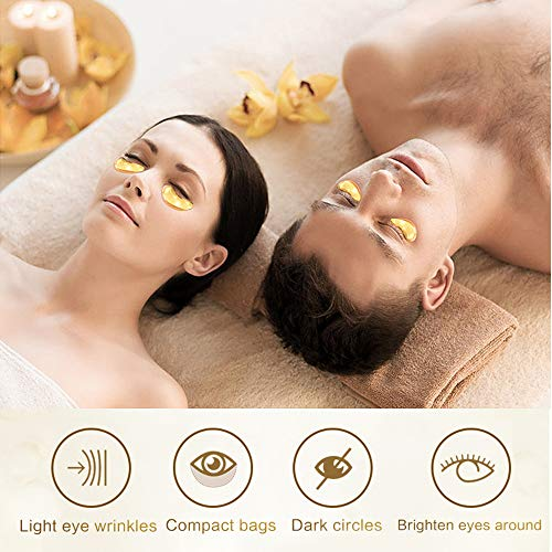 51SgMBWwrKL - 24K Gold Eye Mask Under Eye Pads Under Eye Bag Collagen Eye Treatment Masks for Anti Aging, Under Eye Mask Patches for Dark Circles & Puffiness Anti Wrinkle, Moisturising, Whitening - 60pcs