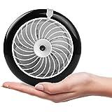 Pojazia Portable Mini Misting Fan Table Fans Humidifier Fan Portable Cooling Mist Fan Rechargeable Humidifier Personal Fan Desktop Fan with Built-in Battery (Black)