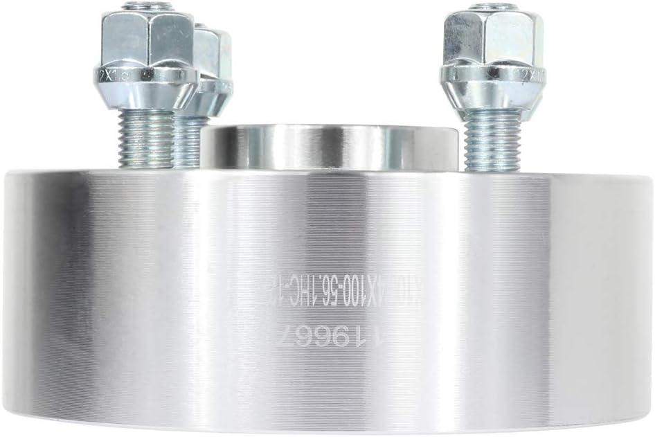 ANPART 4X 2 inch Wheel Spacers adapters 4 Lug 4x100mm to 4x100mm 12x1.5 Studs 56.1mm fits for Honda Civic del Sol Mitsubishi Lancer Mitsubishi Lancer