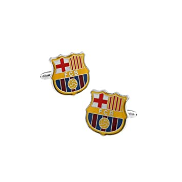 JUMP Camisa Gemela De Hombre Camisa De Vestir De Las Señoras FC Barcelona Botón Manguito Retro Señoras Encantos Accesorios De Los Hombres Gemelos De La ...