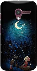 DailyObjects Moonlight Camping Case For Motorola Moto X
