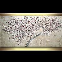 Dipinto a mano paesaggio astratto palette sfondo rosa Tulip Painted House Wall soggiorno Art 60x120cm