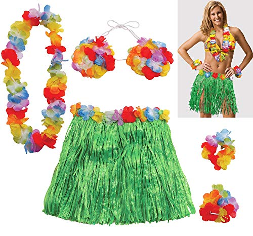 amscan Adult Size Grass Skirt Party Kit]()